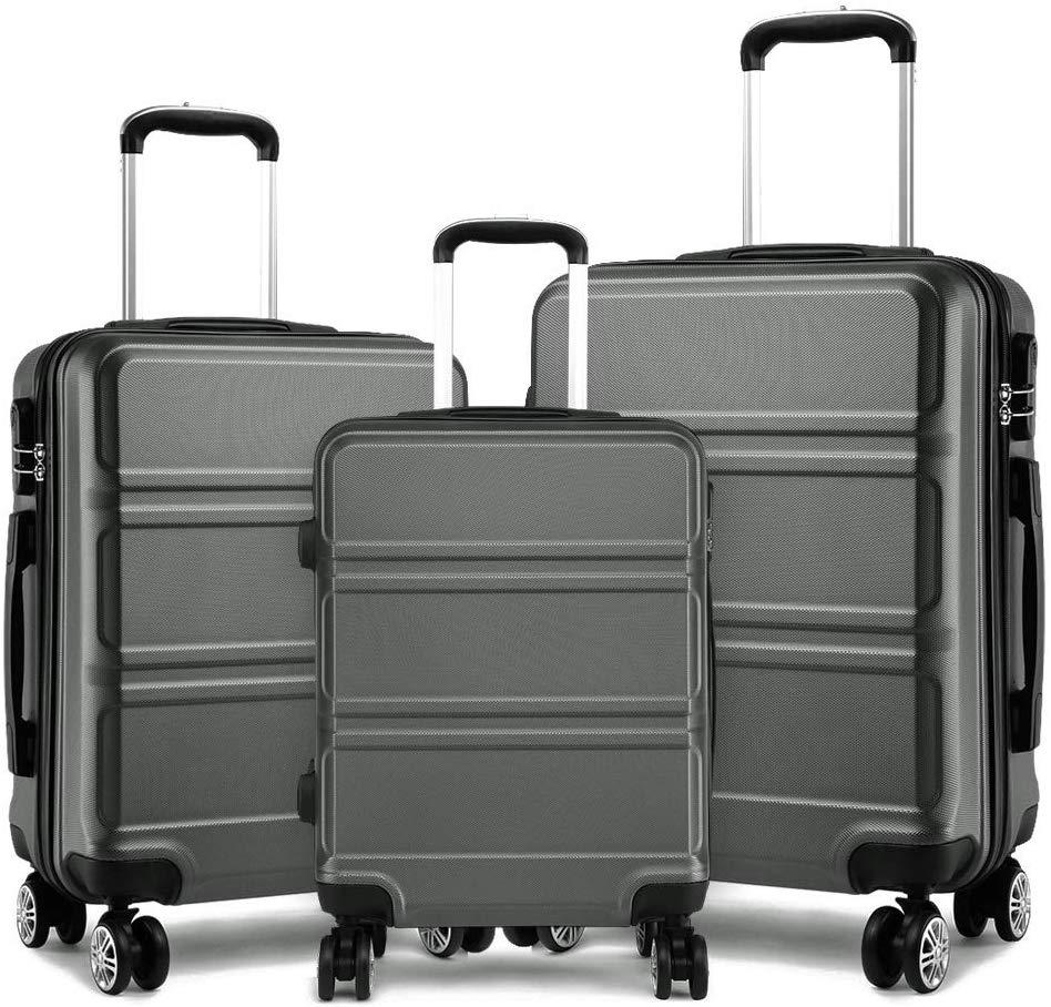 valise Kono Ensemble de 3 valises ABS léger